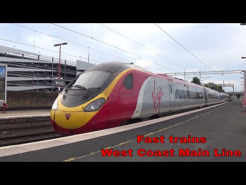 Voyager and Pendolino trains on the West Coast Main Line