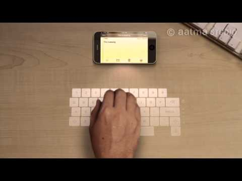 iphone 5 technology - Amazing Concept iPhone 5. This CG iPhone 5 has advanced iPhone features such as a sleeker iPhone design, a laser keyboard & holographic display all rolled in...