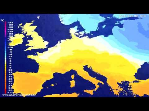 Temperature forecast Europe 2015-10-07