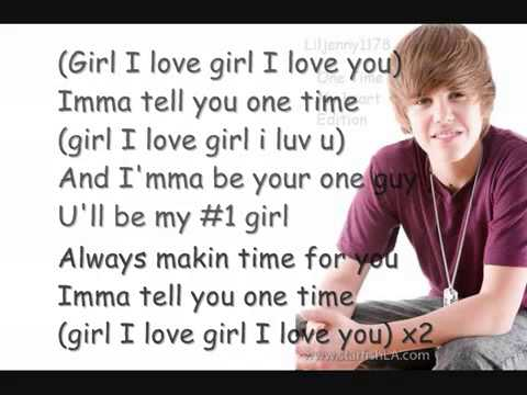 Justin Bieber One Time  My Heart Edition Tru Jackson Vp) [HQ] W  Lyrics