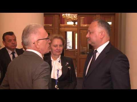 Președintele Republicii Moldova a avut o întrevedere cu secretarul general al Consiliului Adunării Interparlamentare a CSI