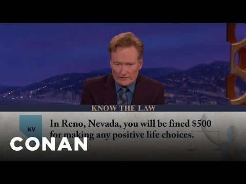 Positive Life Choices Are Illegal In Reno  - CONAN on TBS (видео)