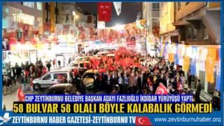 CHP Zeytinburnu Belediye Başkan Adayı Mimar Mustafa Fazlıoğlu Binlerle İktidar Yürüyüşü Yapttı