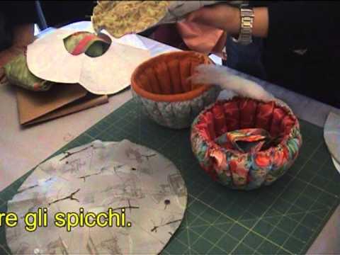 come creare un cestino in patchwork