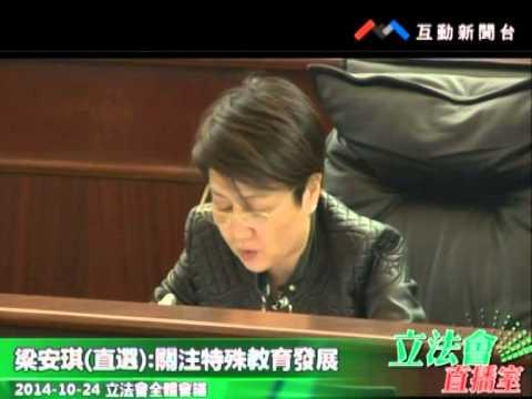 梁安琪20141024立法會全體會議