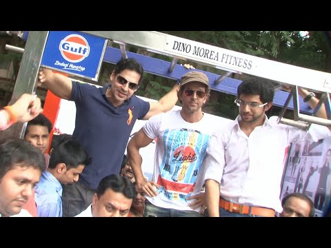 Hrithik Roshan & Dino Morea Inaugurated DM Fitness With Aditya Thackerey