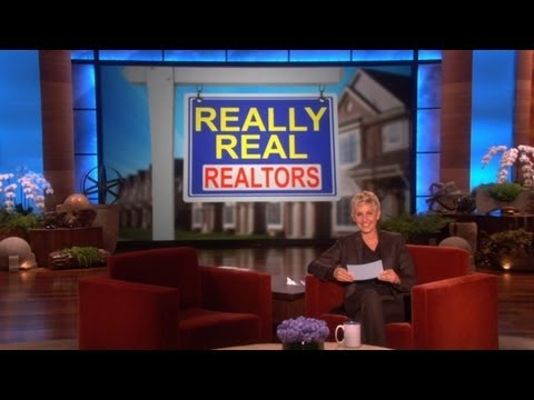 realtors - We've all seen the crazy ads on the bus stop benches for realtors. Ellen found some that she loved so much, she created a new segment,