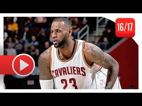 LeBron James Full Highlights vs Nuggets (2017.02.11) - 27 Pts, 12 Ast
