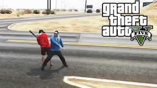 GTA 5 Online Lui Calibre vs H2O Delirious and Stunt Jumps with Vanoss