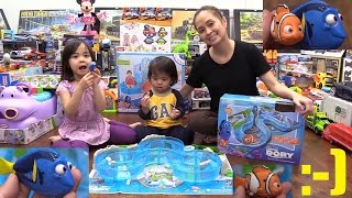 Disney Pixar Finding Dory Marine Life Institute Playset Unboxing and Playtime