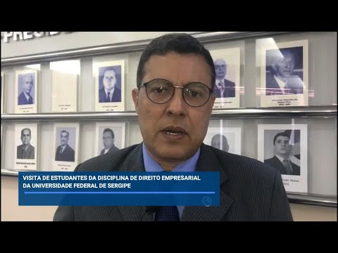 Alunos de Direito Empresarial da UFS fazem visita técnica à Jucese