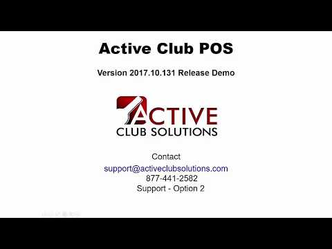 Active Club Solutions - POS Release v131