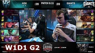 H2K Gaming vs Giants | Week 1 Day 1 S8 EU LCS Summer 2018 | H2K vs GIA W1D1