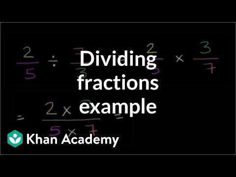 Dividing Fractions 2 5 7 3 Video Khan Academy