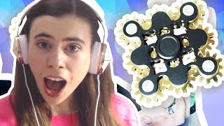 REACTING TO FIDGET SPINNERS!!!