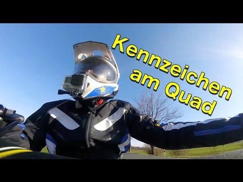 Kennzeichen am Quad oder ATV / Quad-Vlog / ToxiQtime