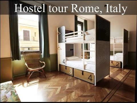 Tour of our hostel room in Rome, Italy