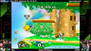 Axe playing Pikachu vs Leffen at Apex 14, the first match is insane