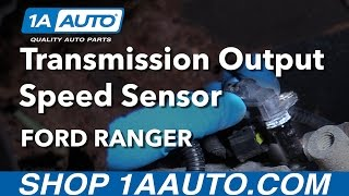 4. How to Install Replace Output Speed Sensor Automatic Transmission 1997-11 Ford Ranger