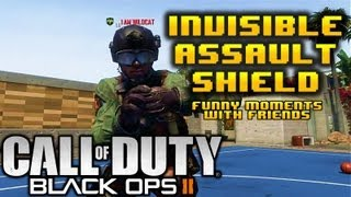 BLACK OPS 2 INVISIBLE ASSAULT SHIELD / RIOT SHIELD!!! Funny Moments w/ BasicallyIDoWork, H2ODeliriou