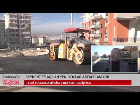 Beykent'te açılan yeni yollar asfaltlanıyor