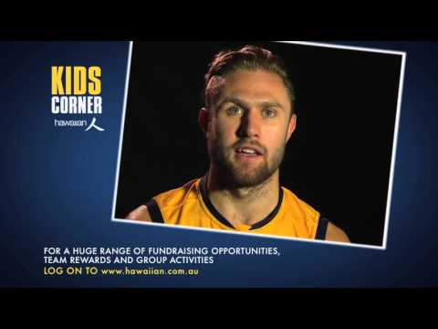 Hawaiian Kids Corner - Hutchings, what is your pre-match meal and sporting interests? on YouTube