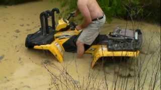 4. Polaris Sportsman 450 in the mud