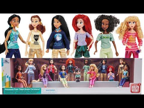 (Part One) Ralph Breaks the Internet Princesses mini Doll set Review & Unboxing