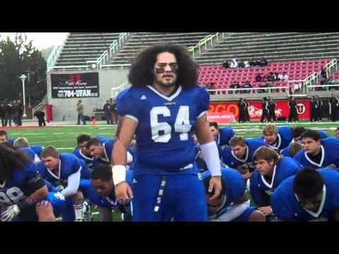 Bingham High Miners Football Haka Dance 11-11-10.