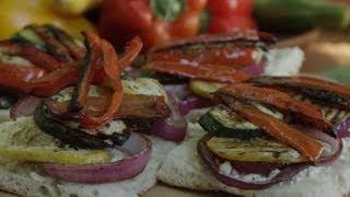 Veggie Sandwich Recipe - How to Make Grilled Veggie Sandwiches