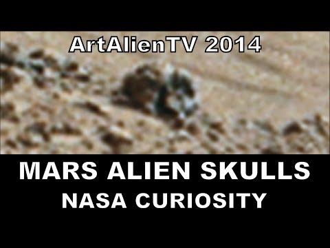 Mars Amazing Alien Skulls: Curiosity Rover Bone Anomalies. ArtAlienTV – MARS ZOO 738p