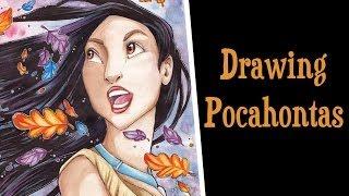 Speed Drawing  Pocahontas - Disney