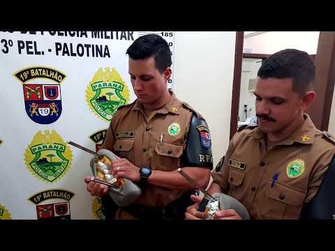 Morador de Umuarama é preso em Palotina após PM encontrar drogas escondidas no encosto de cabeça do seu veículo. Veja o vídeo.