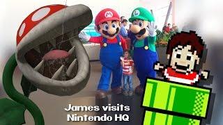 James visits Nintendo Headquarters