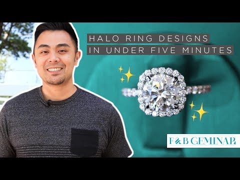 Halo Ring Designs Under 5 Minutes - Featuring F&B's