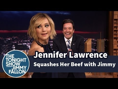 Jennifer Lawrence on the Tonight Show with Jimmy Fallon | HG Girl On Fire