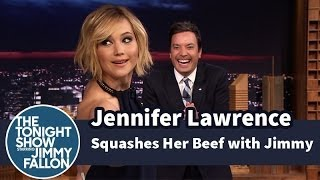 Jennifer Lawrence Squashes Her Beef with Jimmy Fallon