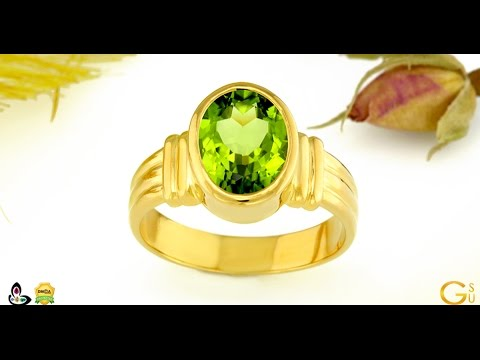 Peridot Ring in Gold Jyotish Gemstone of Mercury
