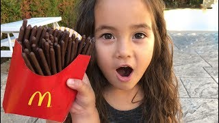 Magic McDonald's Happy Meal! Turns into real chocolate iPhone and French Fries Compilation
