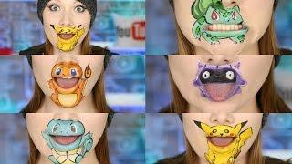 POKEMON GO!!! 5 Characters Lip Art! by Madeyewlook