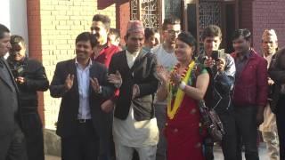 Rishi Dhamala & Prachanda (प्रचण्ड) Dancing in Tihar Song