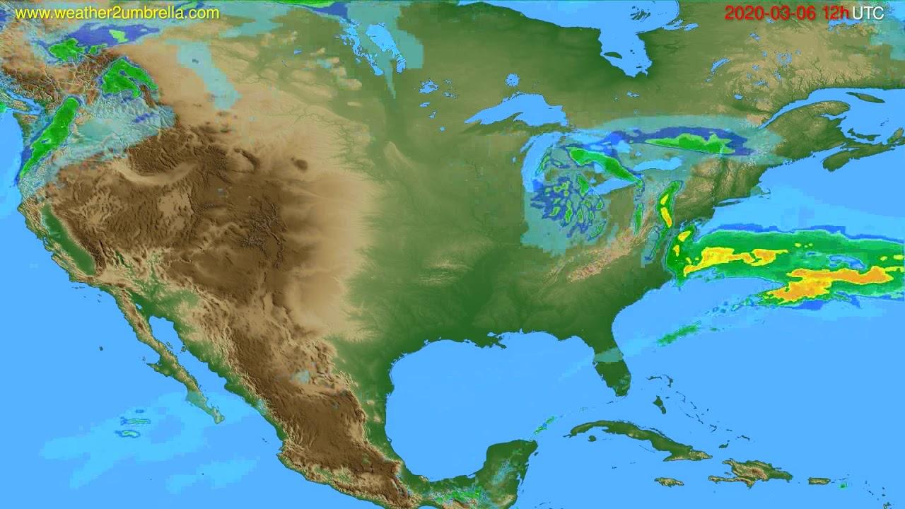 Radar forecast USA & Canada // modelrun: 00h UTC 2020-03-06