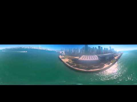 360 Degree Drone Video of Hong Kong Harbor - Short Video