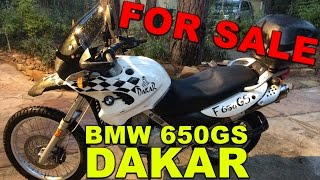 8. 2001 BMW F650GS Dakar for SALE