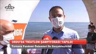 Ordu'da Triatlon Şampiyonası Yapıldı (Altaş TV)