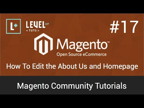 Magento Tutorials 17: How To Edit the About Us and Homepage