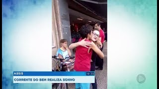 Moradores se unem para comprar bicicleta e realizar sonho de menino em Assis