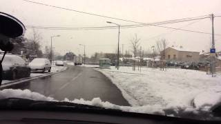 Marignane France  city images : Marignane, France in the SNOW (Drive through)