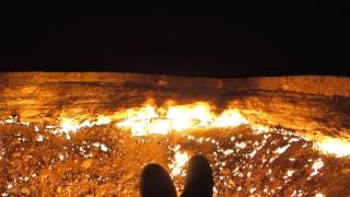It's 4am in the centre of Turkmenistan's Karakum Desert, I'm sitting on the rim to what could be described as the world's largest...