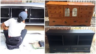 Hey Loves! In this video, I will share how I turned an old dresser into an entertainment center!More Furniture Makeover videos coming your way! So sit tight!Check out my new VLOG Channel!!! http://bit.ly/1VMWHtqK E E P U P W I T H M E Instagram: @aprilbeee_http://bit.ly/1Rv8bBwSnapchat: @aprilbeee1Facebook: April Beeehttp://on.fb.me/1MqdCeDTwitter: @aprilbeee_http://bit.ly/1HqTEPEF O R   B U S I N E S S   I N Q U I R I E S Email: april.beee1@gmail.comT H A N K S   F O R   W A T C H I N G !!!